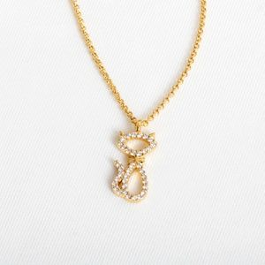Kate Spade Jazz Things Up Pave Cat Necklace